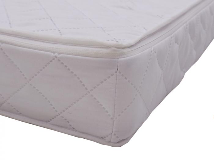 Saltea pentru Bebelusi Somn Usor, 115x55x10 cm, Fibra de Cocos, Husa Antialergica & Lavabila, Alb [4]