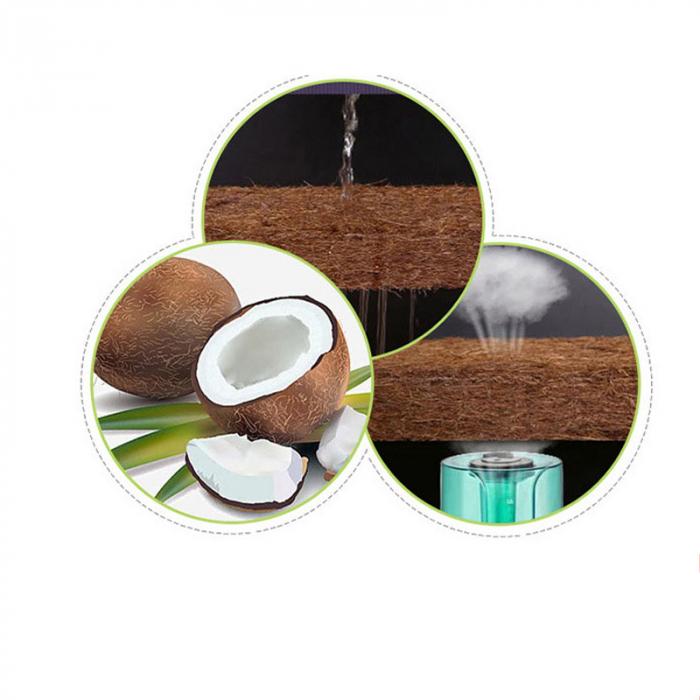 Saltea pentru Bebelusi Somn Usor, 140x70x8 cm, Fibra de Cocos, Husa Antialergica & Lavabila, Alb [6]