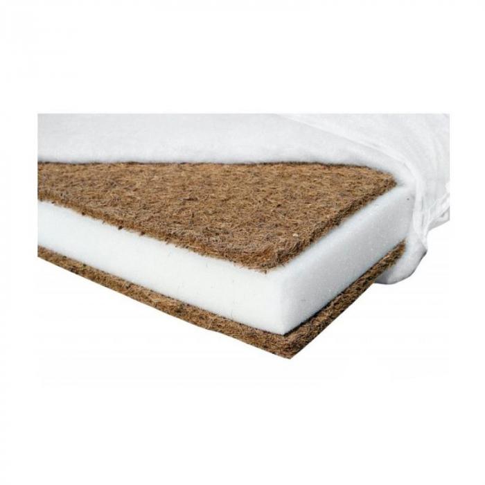 Saltea pentru Bebelusi TiBebe Vise Placute, 120x60x10, Fibra de Cocos, Husa Bumbac 100% Antialergica & Lavabila, Alb 4