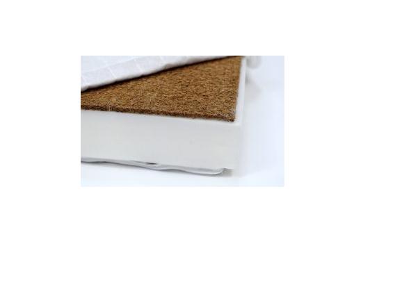 Saltea pliabila pentru copii, Cocos si Spuma Poliuretanica, Husa 100% Bumbac, Detasabila, 120x60x5 cm, Alb [7]