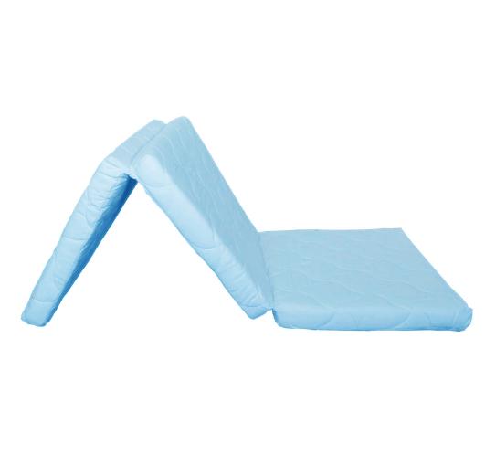 Saltea pliabila pentru copii, Spuma Poliuretanica, Husa 100% Bumbac, Detasabila, 120x60x5 cm, Albastru [7]