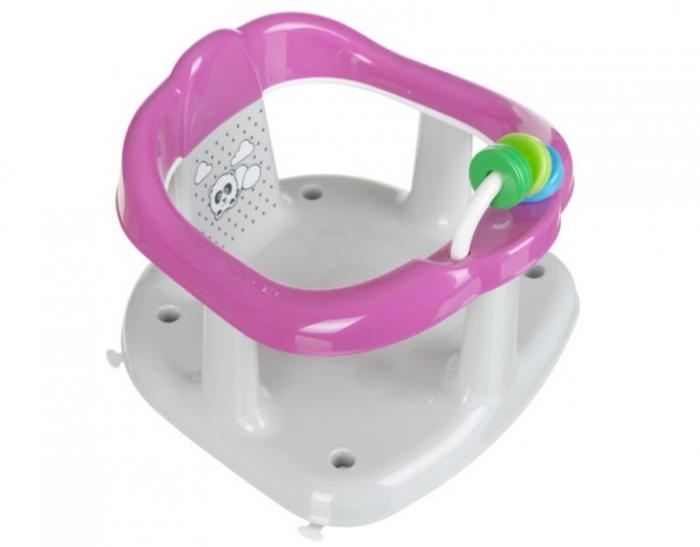 Scaun de baie pentru bebelusi, Imprimeu Panda, 25x30x30 cm, roz [1]