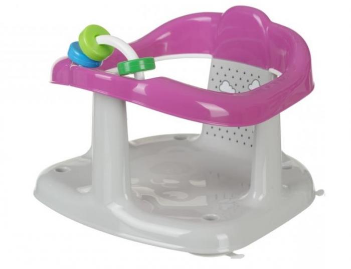 Scaun de baie pentru bebelusi, Imprimeu Panda, 25x30x30 cm, roz [2]