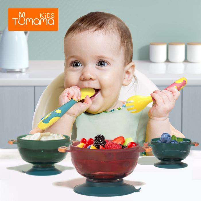 Set 2 tacamuri pentru bebelusi, fara BPA, din silicon, +6 luni, Tumama®, multicolor [3]