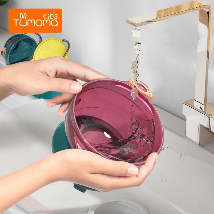 Set 3 boluri cu ventuza pentru bebelusi, dimensiuni diferite, fara BPA, +6 luni, Tumama®, multicolor [5]