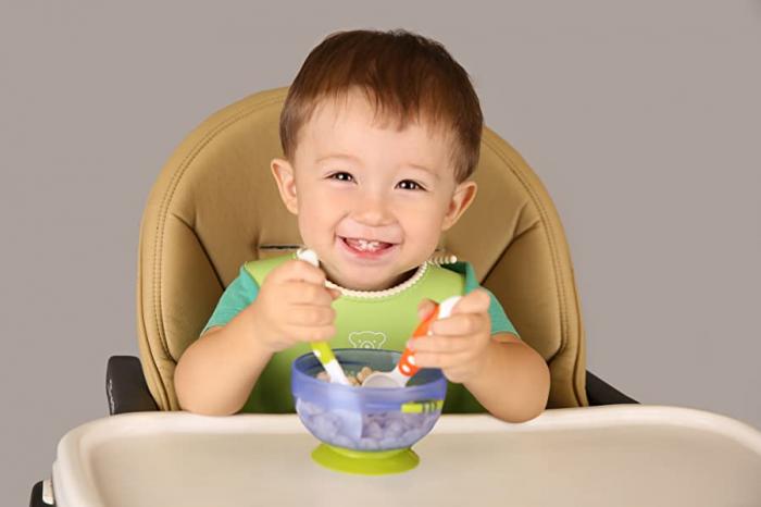 Set 3 boluri cu ventuza pentru bebelusi, dimensiuni diferite, fara BPA, +6 luni, Tumama®, multicolor [7]