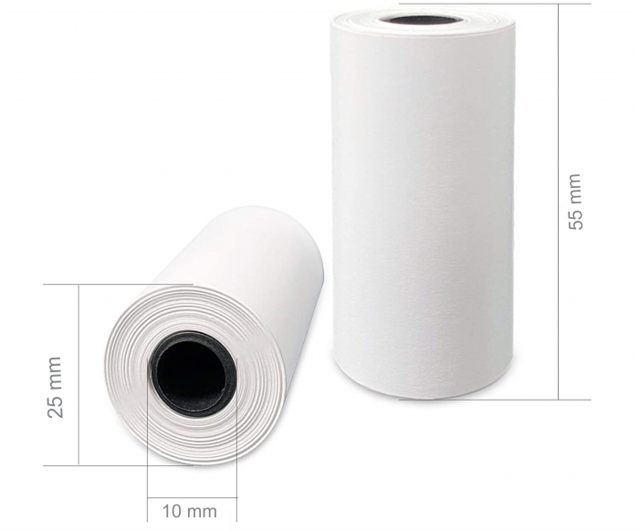 Set 5 role rezerva din hartie termica, compatibile cu Aparat Foto Instant, 55x25 mm, Smartic®, alb [1]