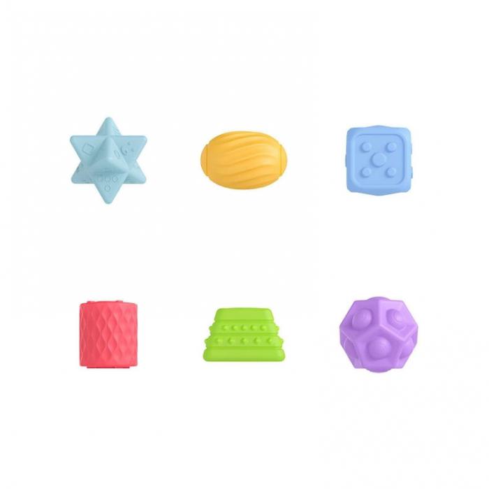 Set 6 piese forme geometrice, Blocuri din silicon, Tumama® 0