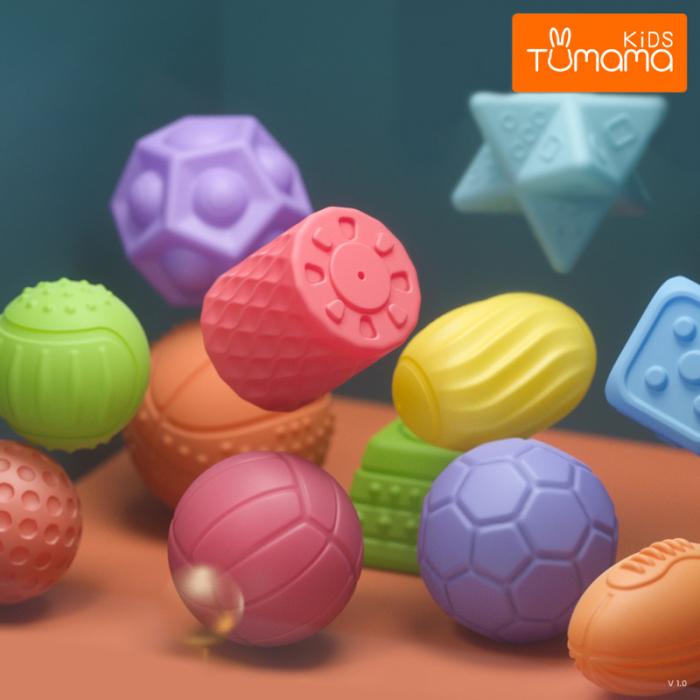 Set 6 piese forme geometrice, Blocuri din silicon, Tumama® 4