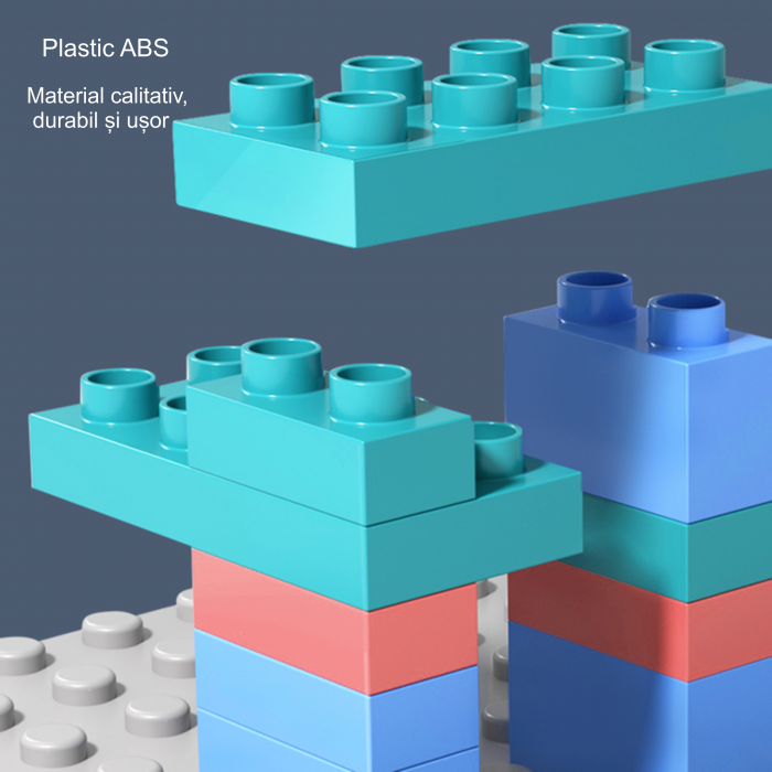 Set blocuri constructie pentru copii, Labirintul Interactiv, +3 ani, 69 piese, material plastic,Tumama®, multicolor [7]