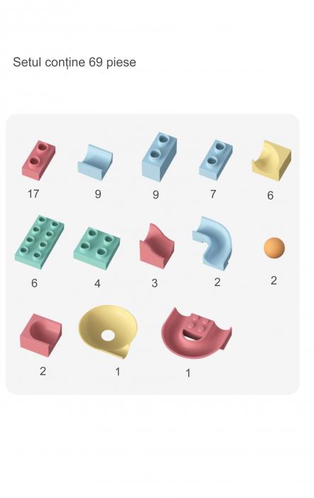 Set blocuri constructie pentru copii, Labirintul Interactiv, +3 ani, 69 piese, material plastic,Tumama®, multicolor [4]
