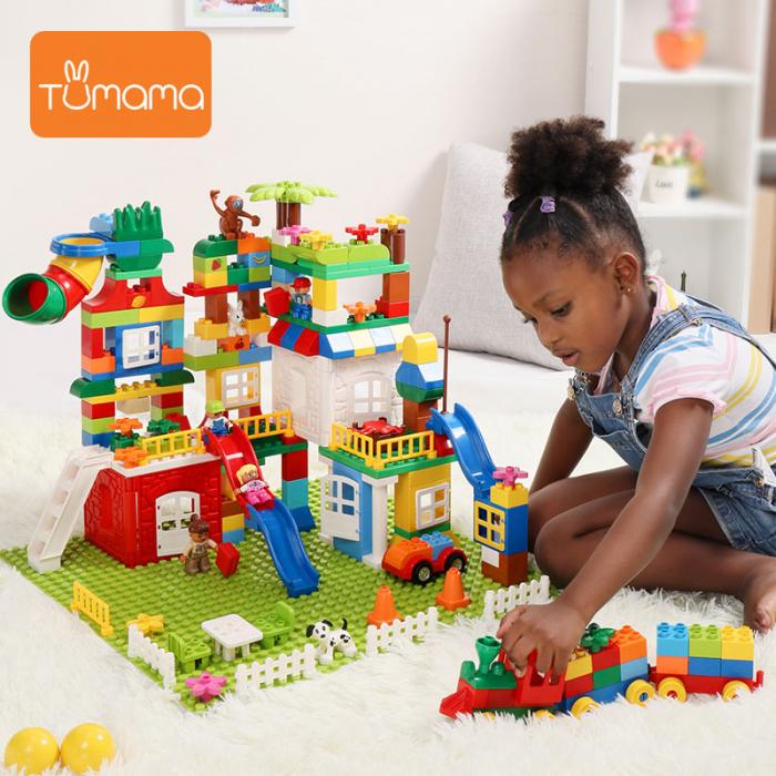 """Set blocuri de constructie """"Orasul meu"""", multiple activitati, 225 piese, Tumama®, multicolor [5]"""