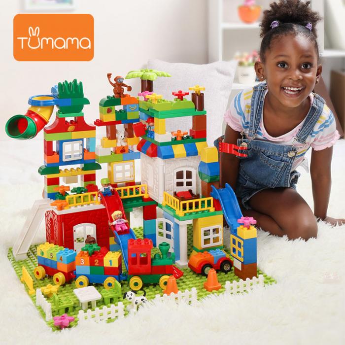 """Set blocuri de constructie """"Orasul meu"""", multiple activitati, 225 piese, Tumama®, multicolor [3]"""