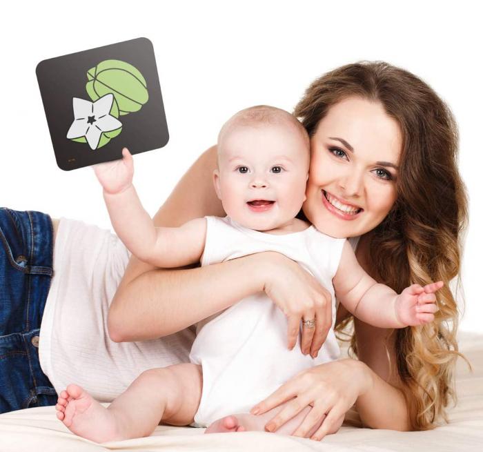 Set cartonase asociere 2 in 1 Tumama® pentru bebelusi si copii, Material Carton,Ilustratii animale, fructe, legume, 40 piese, alb/negru [7]