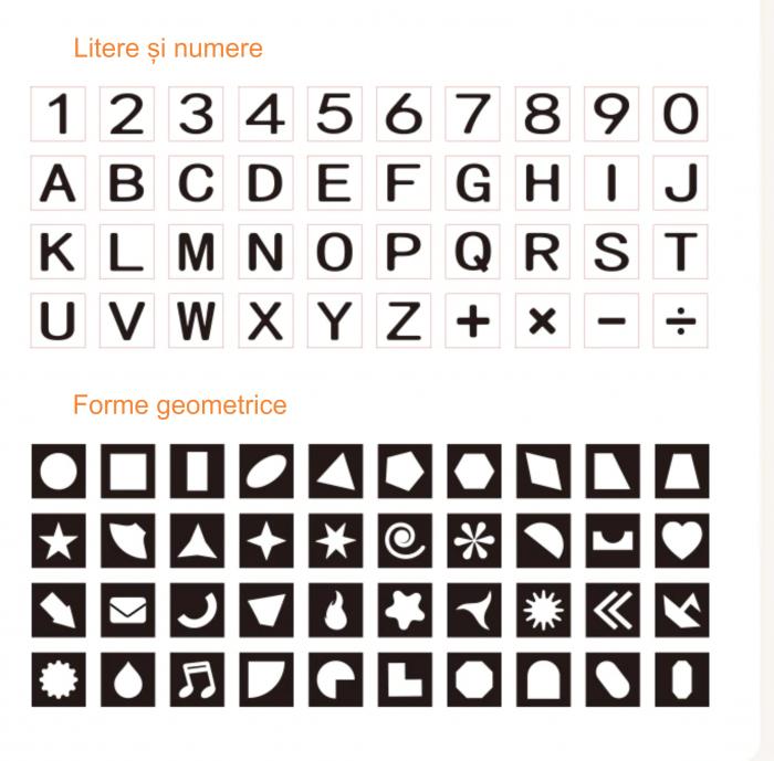 Set cartonase asociere 2 in 1 Tumama® pentru bebelusi si copii, Material Carton, Ilustratii litere, cifre, forme geometrice, 40 piese, alb/negru [5]