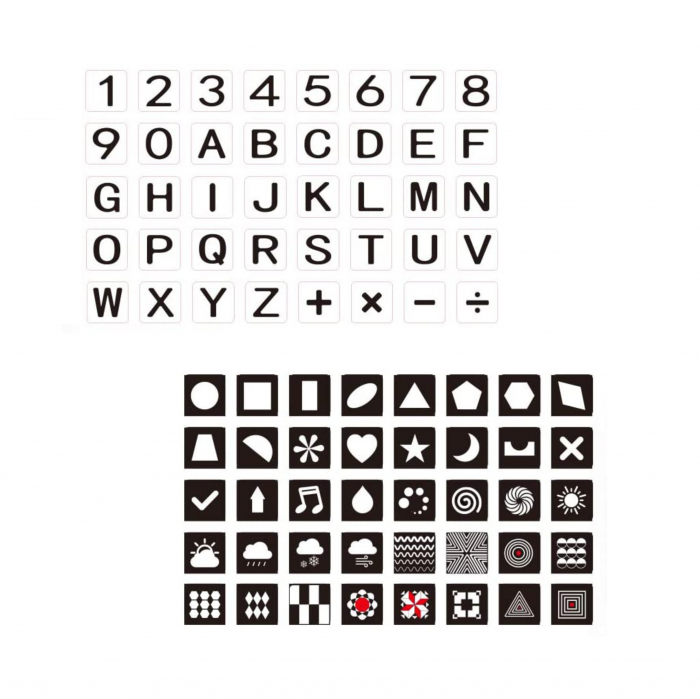 Set cartonase asociere 2 in 1 Tumama® pentru bebelusi si copii, Material Carton, Ilustratii litere, cifre, forme geometrice, 40 piese, alb/negru [0]
