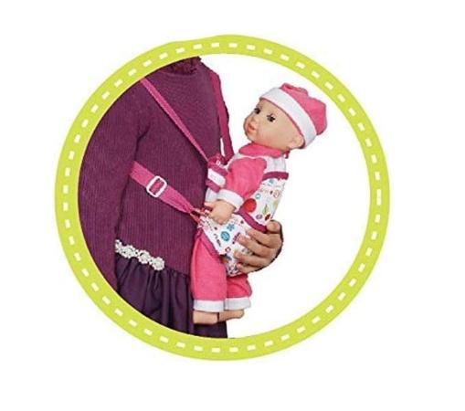 Set copii interactiv cu papusa bebelus si accesorii: tarc, carucior, suport bebe, geanta, covoras, SMARTIC®, multicolor 7