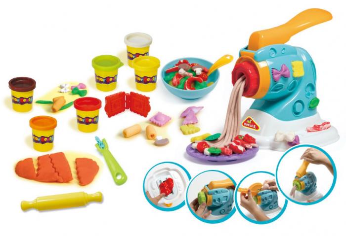 Set copii Masina de facut paste cu plastilina si accesorii, SMARTIC®, multicolor 1