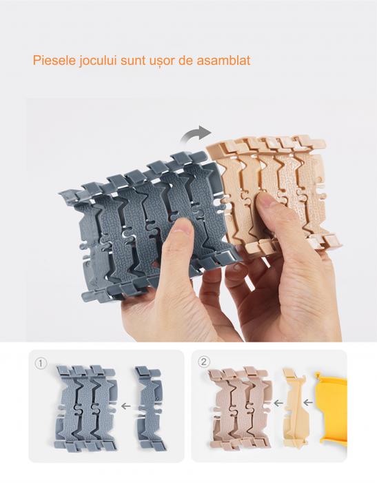 Set de joaca Pista cu Masinute Electrice si accesorii, 258 piese, varsta +3 ani, Tumama®, multicolor [9]