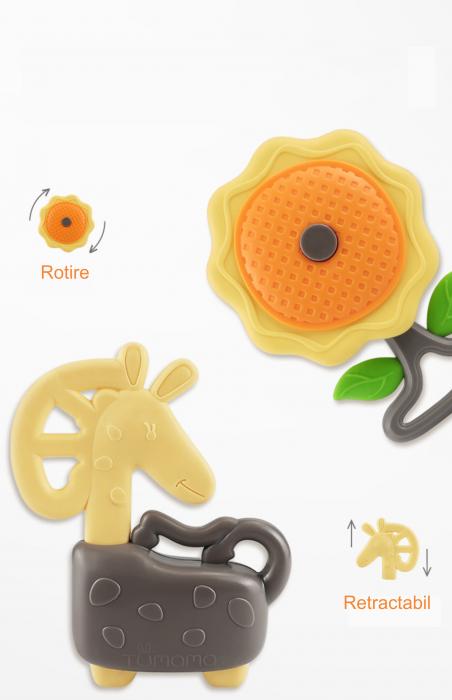 Set jucarii zornaitoare pentru bebelusi, diferite forme, 10 bucati, plastic fara BPA + silicon, Tumama®, multicolor [4]