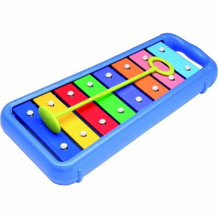 Set muzical xilofon,zornaitoare mini rainbomaker si zornaitoare clopotel pentru bebelusi [0]