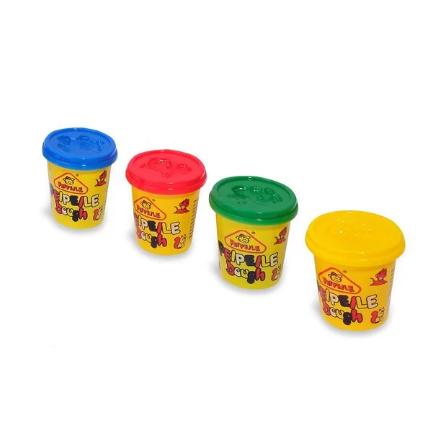 Set plastilina cu accesorii Fete vesele, SMARTIC®, multicolor 0