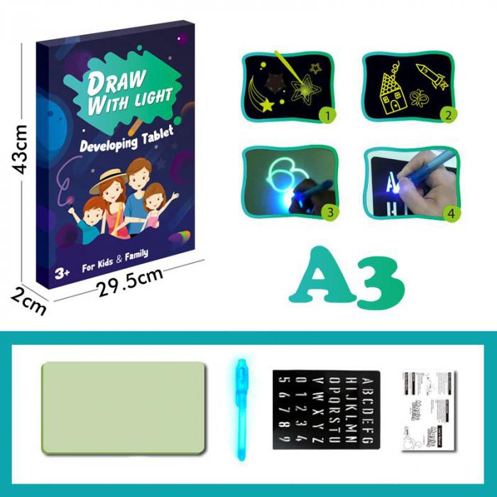 Set tablita de colorat SMARTIC®cu LED, A3 5