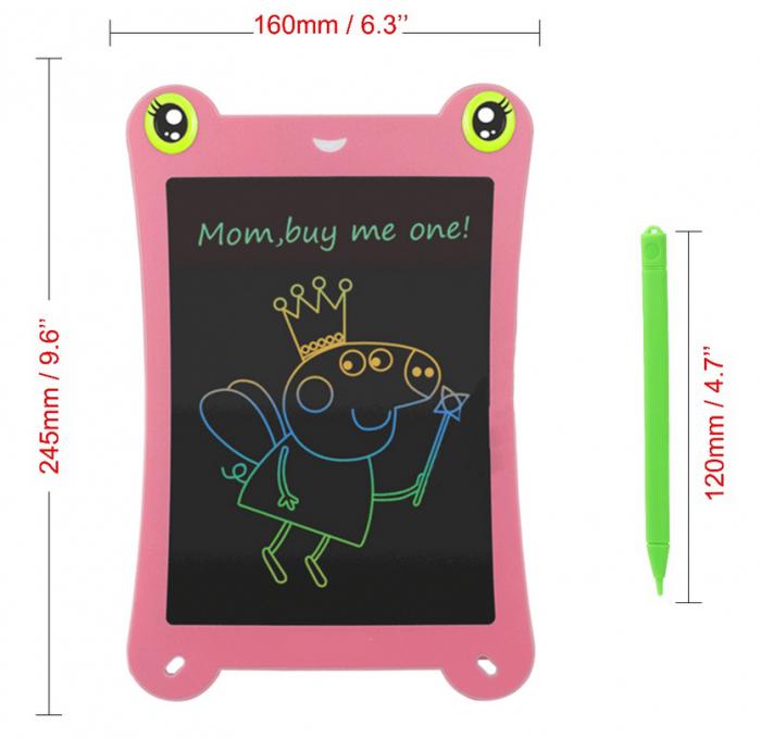 Tableta Grafica pentru Copii, SMARTIC, 8.5 inch, model Broscuta, Roz 2