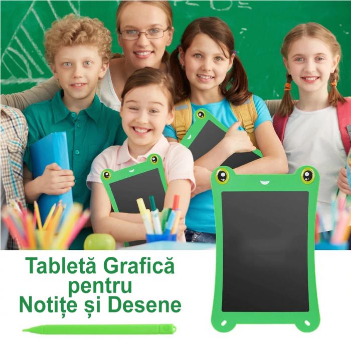 Tableta Grafica pentru Copii, SMARTIC, 8.5 inch, model Broscuta, Verde 1