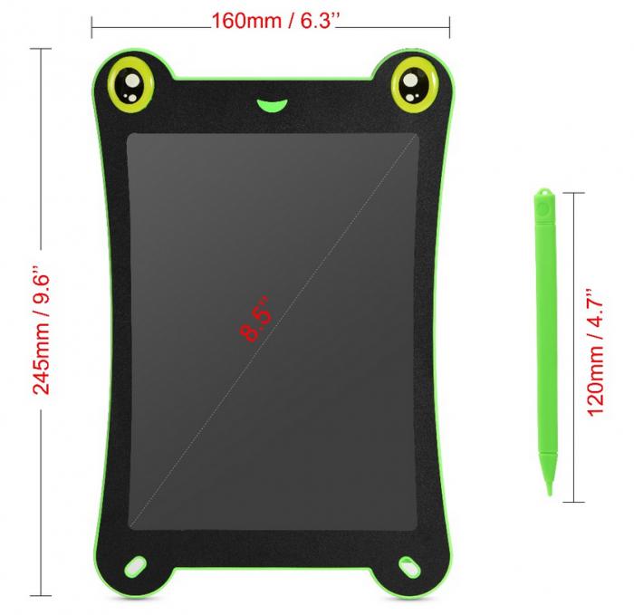 Tableta Grafica pentru Copii, SMARTIC, 8.5 inch, model Broscuta, Verde 3