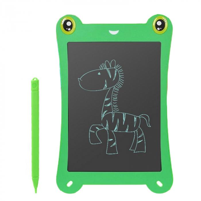 Tableta Grafica pentru Copii, SMARTIC, 8.5 inch, model Broscuta, Verde 0