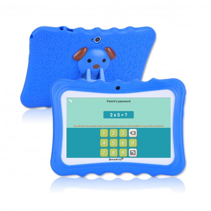 "Tableta portabila pentru copii, Display 7"" Quad-Core Android 10, Wi-Fi, Bluetooth 4.0, 1GB RAM, 8G ROM, HD Dual Camera, Touch Screen, Smartic®, albastru [2]"