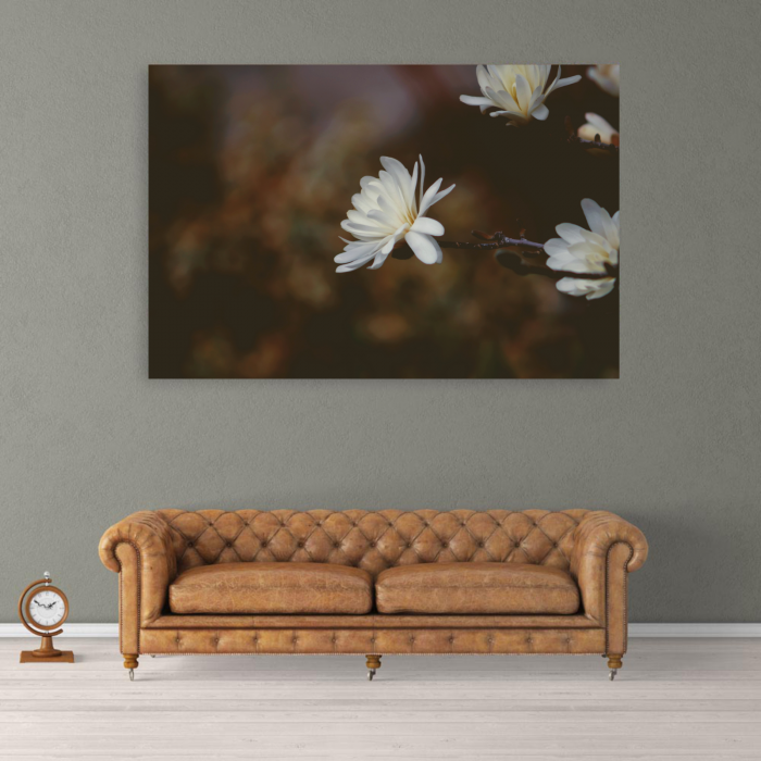 Tablou Canvas Floral Vintage, Panza, Material Textil si Bumbac, 80x50 cm, Multicolor [1]