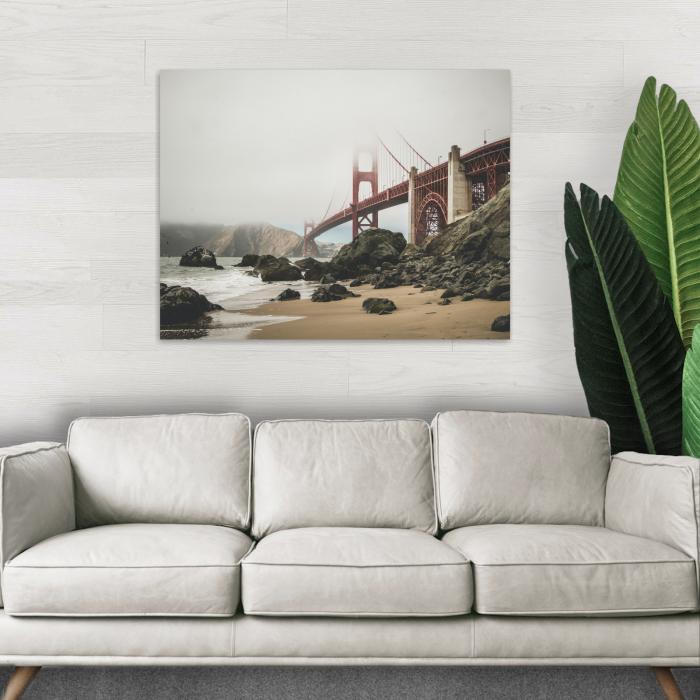 Tablou Canvas, Panza, Material Textil si bumbac, 120 x 80 cm , Multicolor [1]