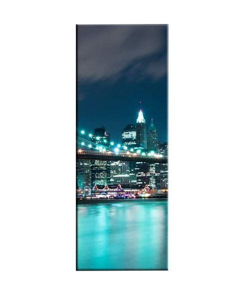 Tablou Nachic Wall,New York Art, View Night, Set 5 piese, 30 x 50 , 30 x 70, 30 x 80 , Material Panza, Tema Natura, Multicolor 3