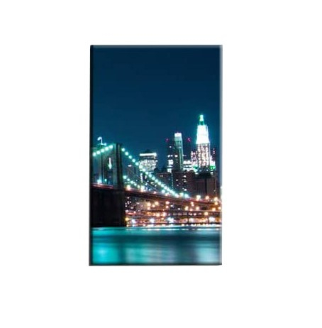 Tablou Nachic Wall,New York Art, View Night, Set 5 piese, 30 x 50 , 30 x 70, 30 x 80 , Material Panza, Tema Natura, Multicolor [5]