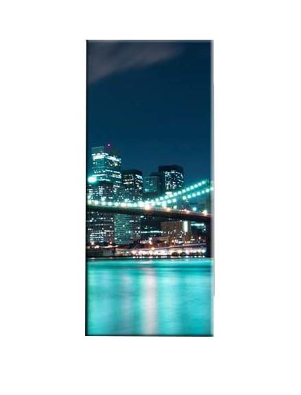 Tablou Nachic Wall,New York Art, View Night, Set 5 piese, 30 x 50 , 30 x 70, 30 x 80 , Material Panza, Tema Natura, Multicolor 4