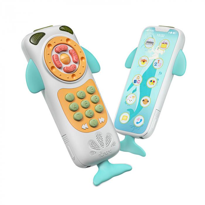 Telefon muzical  interactiv cu peste 100 de sunete educative pentru copii, alb, Tumama® 0