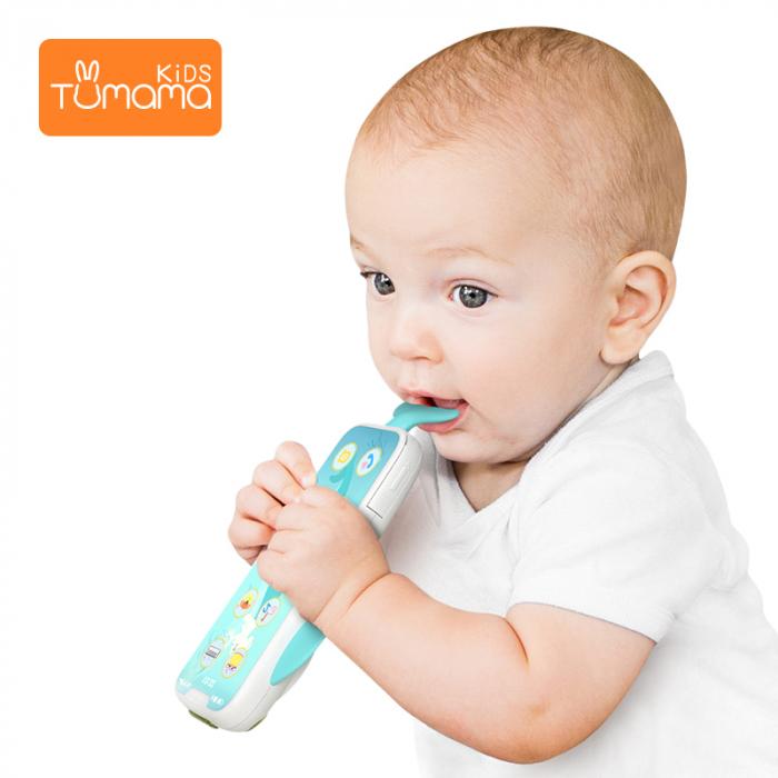 Telefon muzical  interactiv cu peste 100 de sunete educative pentru copii, alb, Tumama® 6