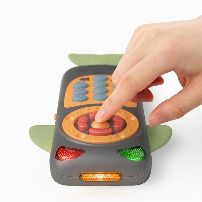 Telefon muzical interactiv Tumama® cu peste 100 de sunete educative pentru copii, negru 4