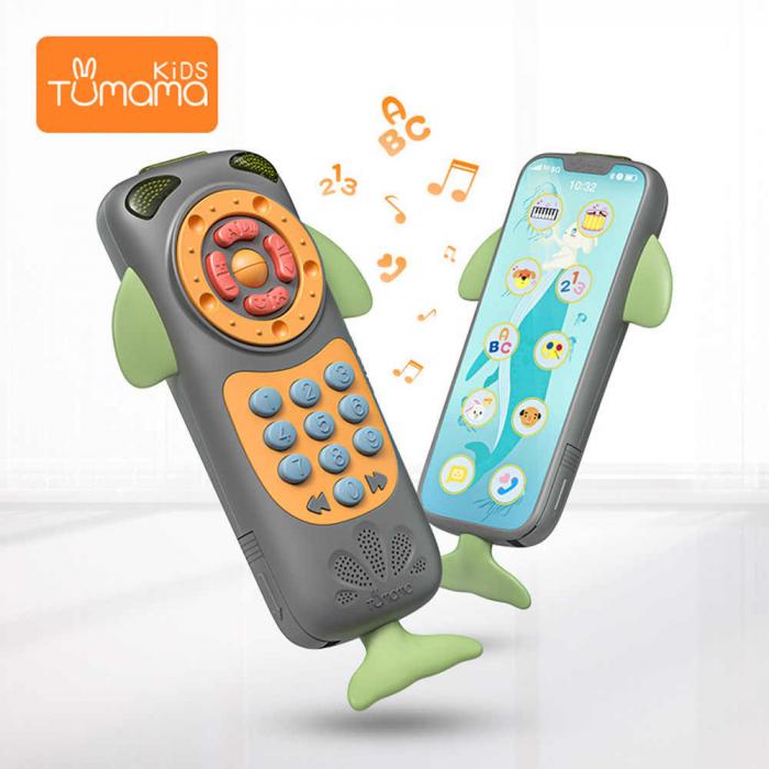 Telefon muzical interactiv Tumama® cu peste 100 de sunete educative pentru copii, negru 5