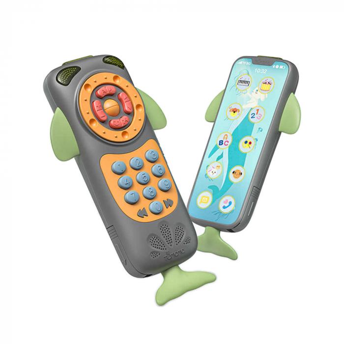Telefon muzical interactiv Tumama® cu peste 100 de sunete educative pentru copii, negru 2