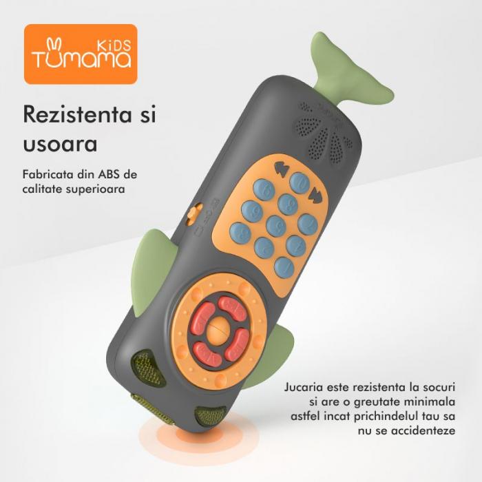 Telefon muzical interactiv Tumama® cu peste 100 de sunete educative pentru copii, negru 3