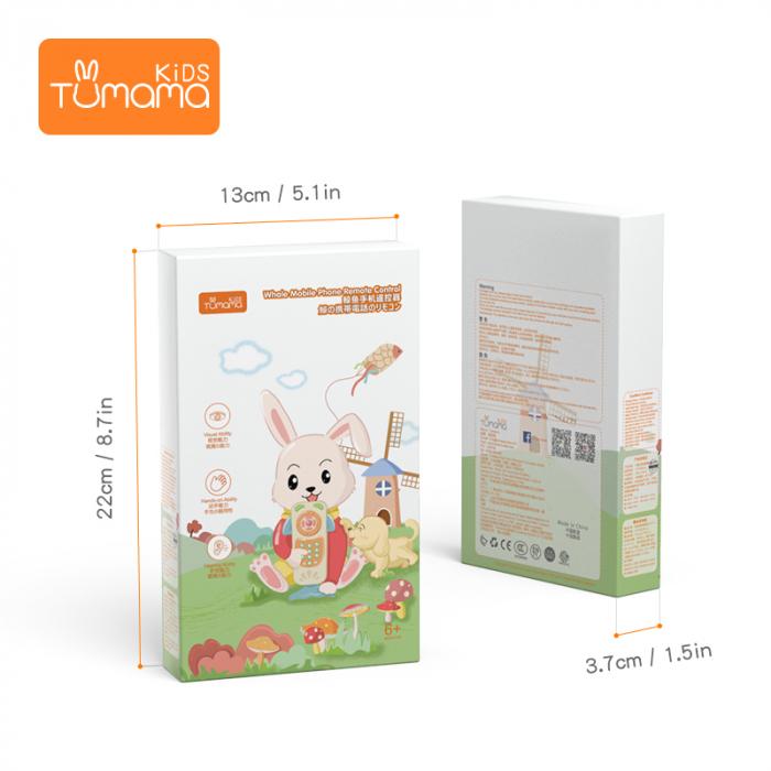 Telefon muzical Tumama® interactiv cu peste 100 de sunete educative pentru copii, roz [4]
