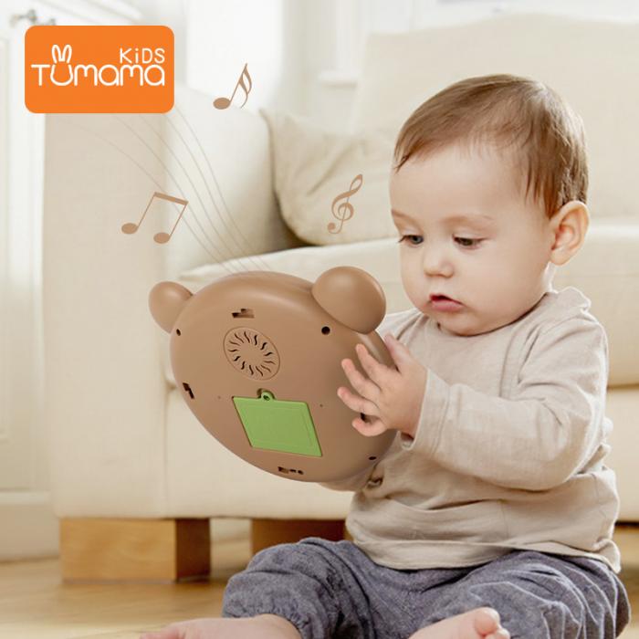 Toba muzicala cu luminite Tumama® Teddy Bear, peste 45 de sunete educationale, pentru copii si bebelusi 5