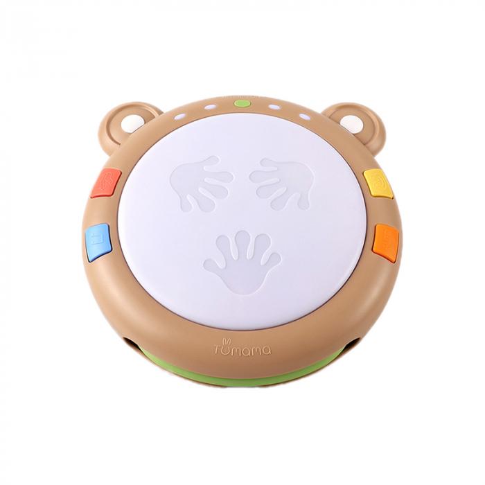 Toba muzicala cu luminite Tumama® Teddy Bear, peste 45 de sunete educationale, pentru copii si bebelusi 0
