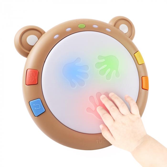 Toba muzicala cu luminite Tumama® Teddy Bear, peste 45 de sunete educationale, pentru copii si bebelusi 1