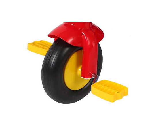 Tricicleta plastic cu pedale si claxon, SMARTIC®, multicolora 1