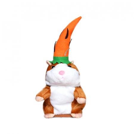 Jucarie Interactiva Copii Hamsterul Vorbitor, Editie de Paste, Maro0