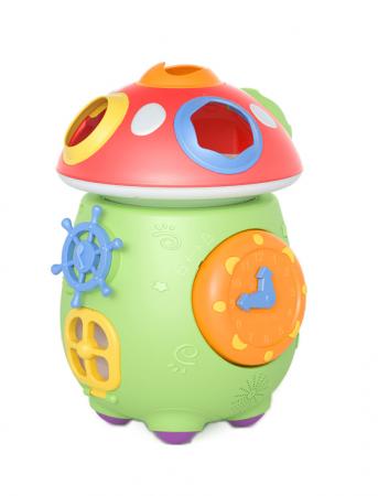 Jucarie muzicala cu sortare de forme Ciupercuta Magica, design amuzant si colorat, verde [0]